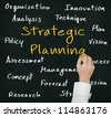 business hand writing strategic planning concept - stock photo