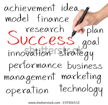 business hand writing success concept