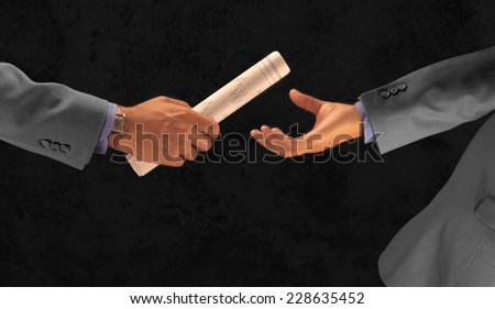Business Handoff Conceptual. - stock photo