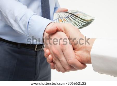 Business handshake - closeup shot - stock photo