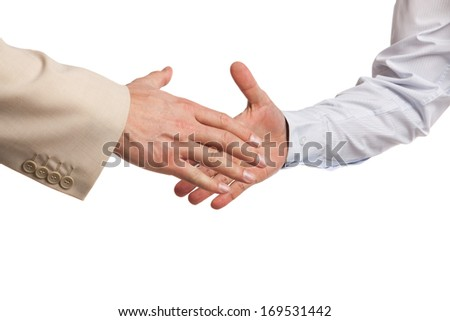 business handshake isolated on a white background