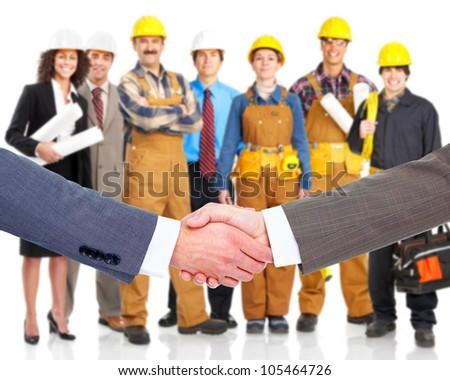 Business handshake. Professional group meeting. - stock photo