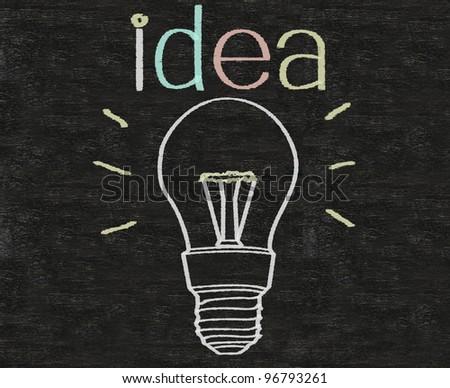 business idea thinking outside the box written on blackboard background with box sign - stock photo