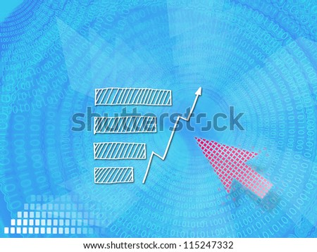 business ideas selecting business icon on blue modern background.