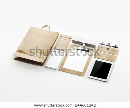 Business identity. 3D rendering. - stock photo