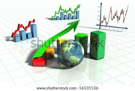 business image, graph, chart, diagram bar - stock photo