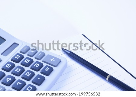 Business Image Of A Ball-Point Pen And Notebook