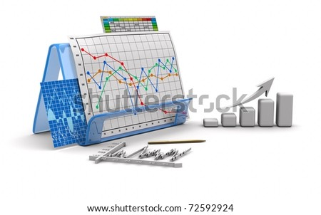 business images graph, diagram, chart, bar, graphic - stock photo