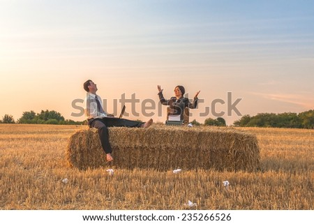 Business in the landscape - stock photo