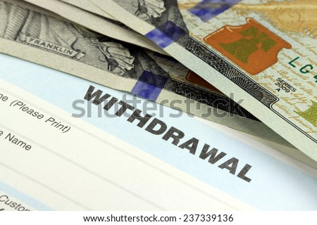 Business income banking transfer slip - Finance and accounting concept - stock photo