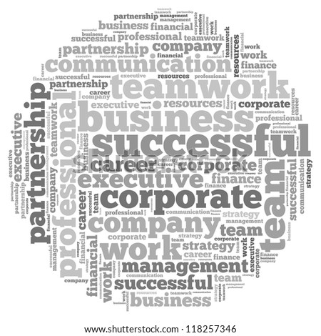 Business info-text graphics and arrangement concept on white background (word cloud) - stock photo
