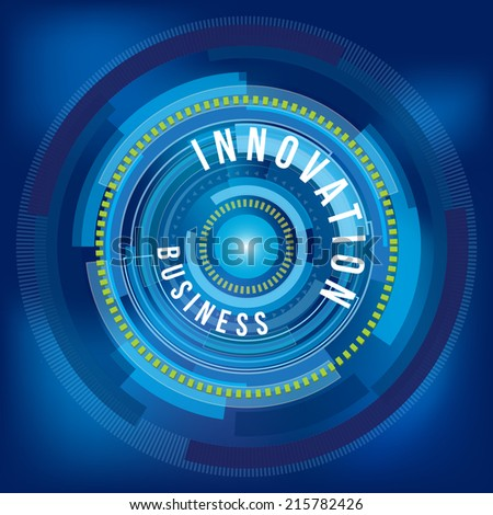 Business innovation digital background
