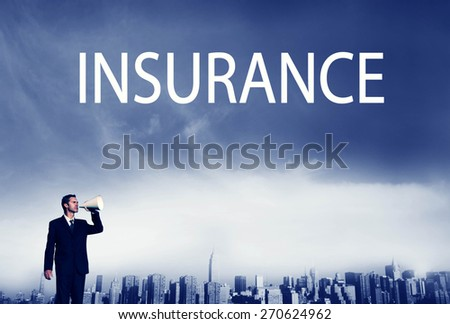 Business Insurance Policy Safety Protection Concept - stock photo