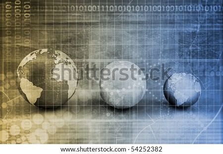 Business Intelligence in the Corporate World Art - stock photo