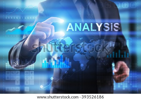 Business, Internet and technology concept.  Businessman select Analysis.