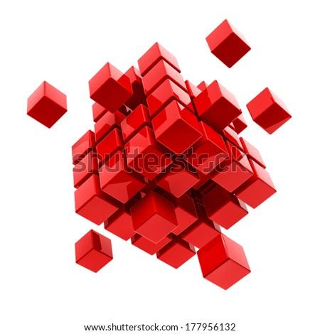 Business, internet, communication concept block - stock photo