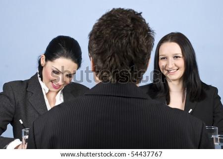 Business interview in a office - stock photo