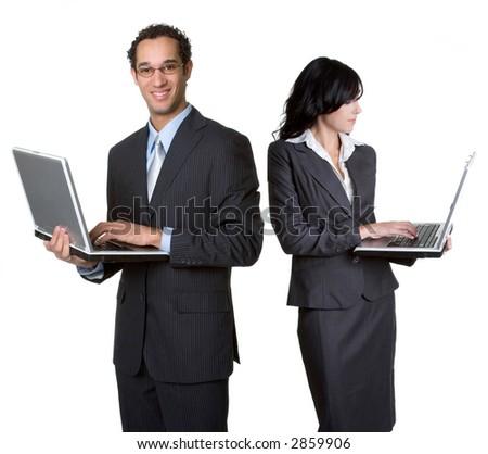 Business Laptops - stock photo
