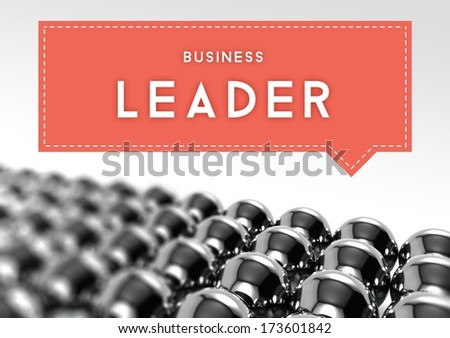 Business leader individuality concept - stock photo