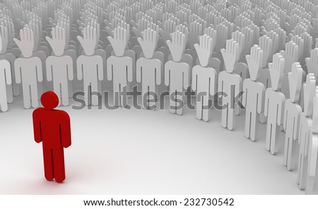business leader support other people - stock photo