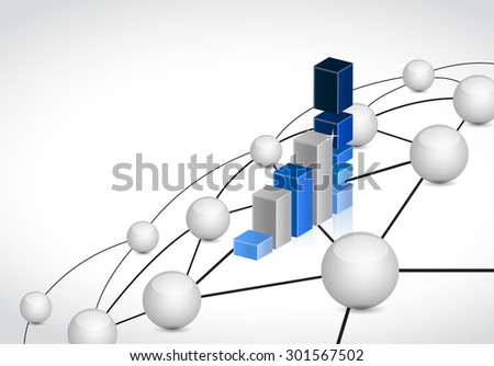 business link sphere network connection concept illustration design graphic background - stock photo
