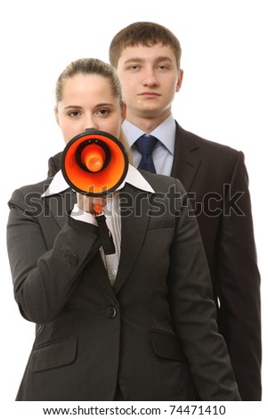 Business loudspeaker - stock photo