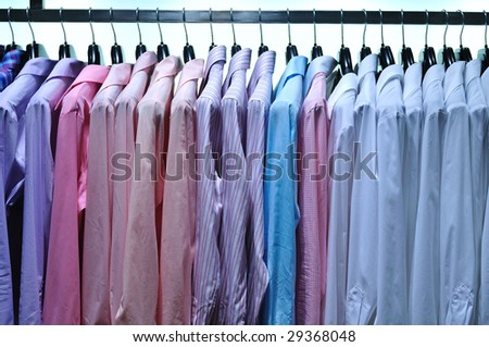 business male fashion store indoor - stock photo