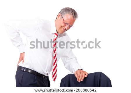 business man arthritis - stock photo