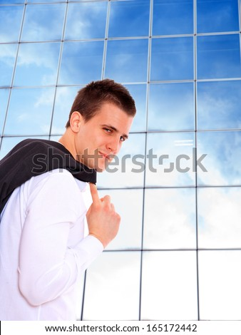 Business man at corporate - stock photo