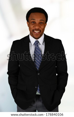 Business man at the office ready to work - stock photo