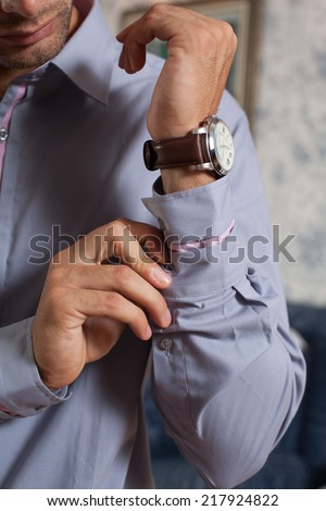 business man detail.business coven with your hand in your pocket - stock photo