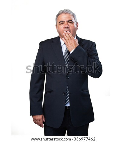 business man doing a tired gesture - stock photo