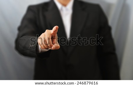 business man finger touch