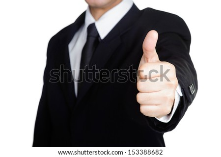 Business man  good hand and success Visit isolated