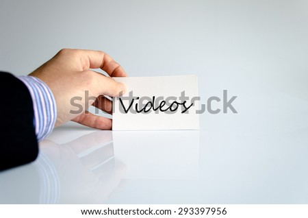 Business man hand and text concept - stock photo
