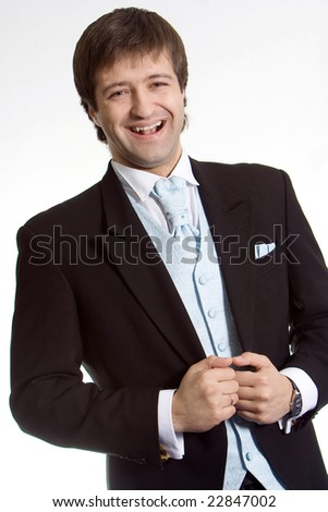 Business man in a suit - stock photo