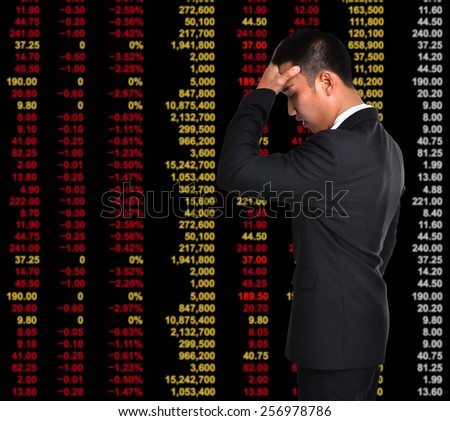 business man in bear market stock investment concept