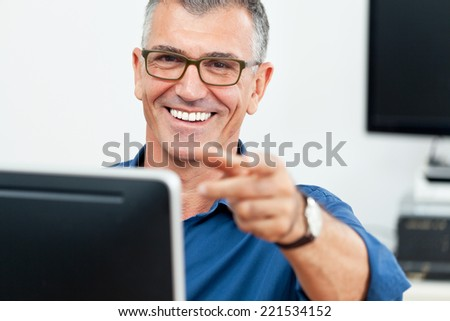 business man in office  - stock photo