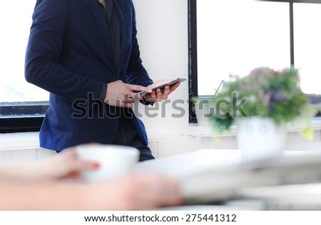 Business man in the office - stock photo
