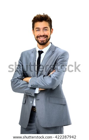 Business man isolated - stock photo