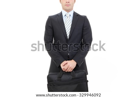 business man ,isolated on white - stock photo