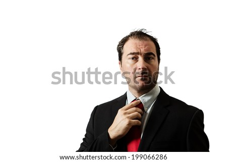 business man looking at camera - stock photo