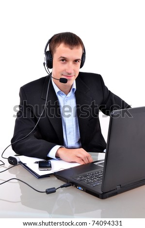 Business Man making a call - stock photo