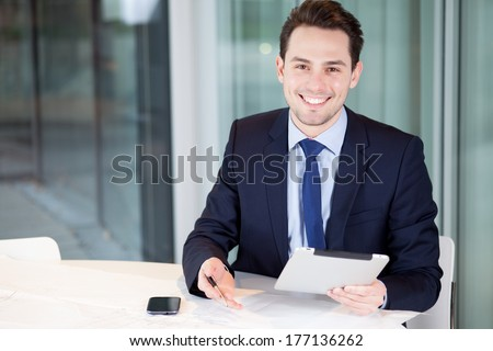 business man office  - stock photo
