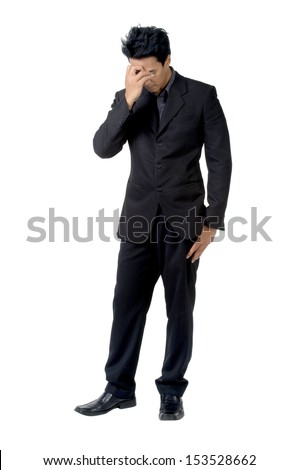Business man posture Disappointed isolated