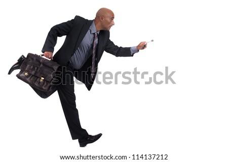 business man running - stock photo