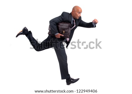 business man running - stock photo