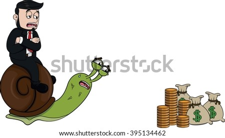 Business man slow - stock photo