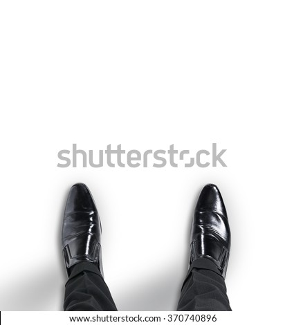 Business man standing at the beginning of a journey