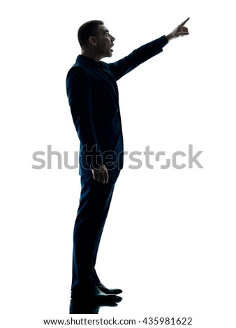 business man standing silhouette isolated